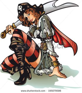 stock-vector-pirate-girl-a-beautiful-but-dangerous-pirate-girl-195079586